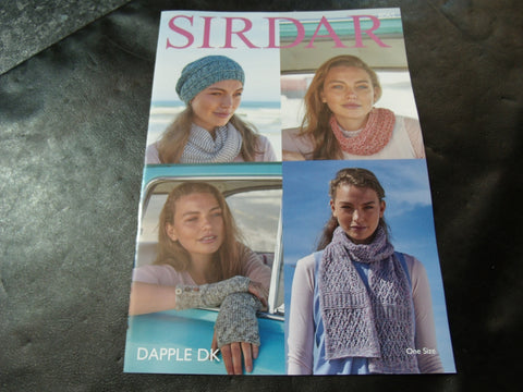 Sirdar Dapple Double Knitting One Size Accessories Pattern 8065