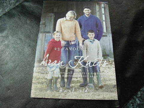 Hayfield 23 Favourite Aran Knits Pattern Book 513