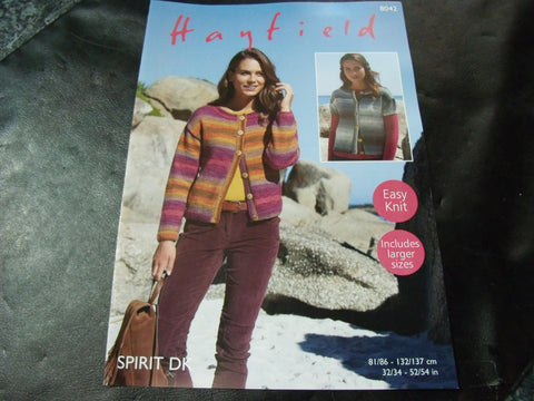 Hayfield Spirit Double Knitting Pattern 8042