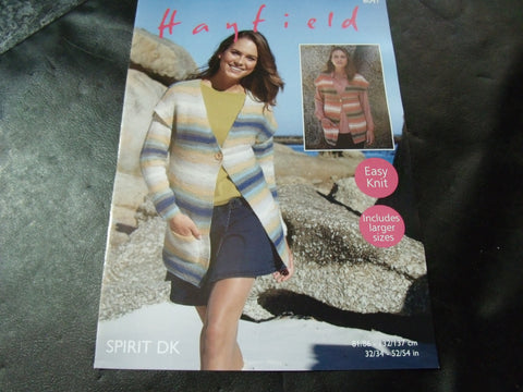 Hayfield Spirit Double Knitting Pattern 8041