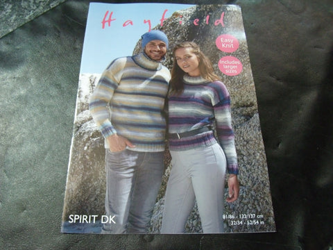 Hayfield Spirit Double Knitting Pattern 8038