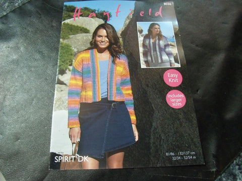 Hayfield Spirit Double Knitting Pattern 8036
