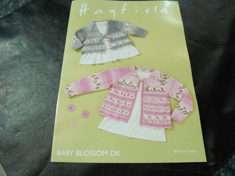 Hayfield Baby Blossom Double Knitting Tops Pattern 4842