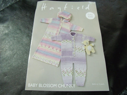 Hayfield Baby Blossom Chunky Easy Knit Pattern 4714