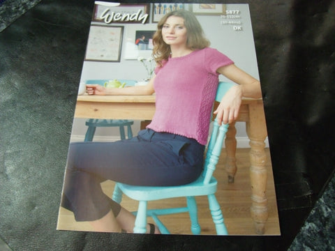 Wendy Double Knit Pattern 5877 Lace Back Sweater