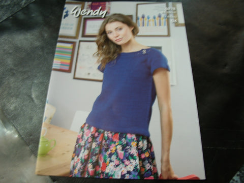 Wendy Double Knit Pattern 5878 Boat Neck Tops
