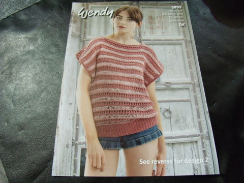 Wendy Double Knit Pattern 5899 Stripe Top