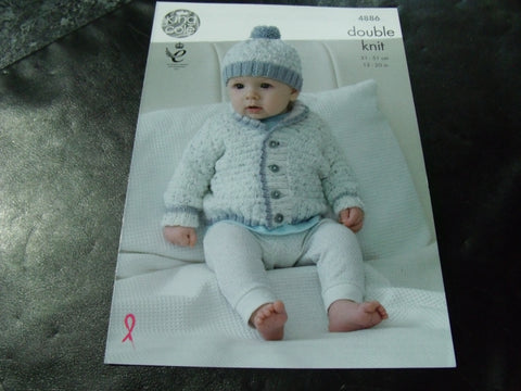 King Cole Double Knit Pattern 4886