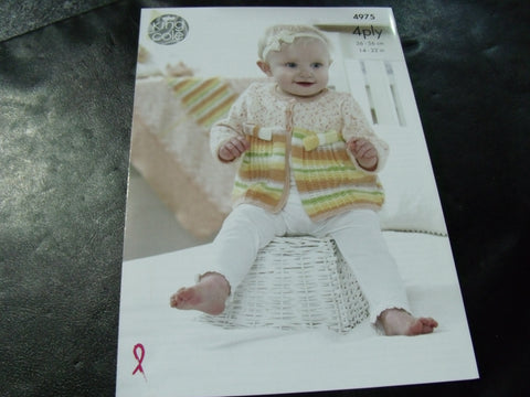 King Cole 4 Ply Knitting Pattern 4975
