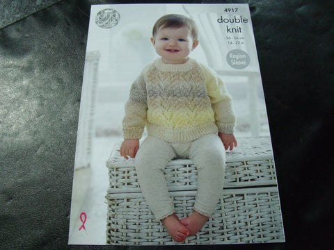 King Cole Double Knit Pattern 4917