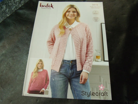 Stylecraft Double Knitting Pattern 9419 Two Designs