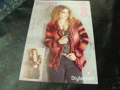 Stylecraft Double Knitting Pattern 9302 Two Designs Cardigans