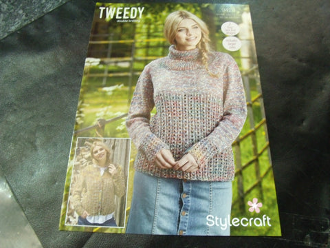 Stylecraft Double Knitting Pattern 9428 Two Easy Knit Lace Designs