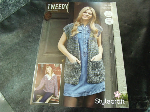 Stylecraft Double Knitting Pattern 9429 Two Easy Knit Designs