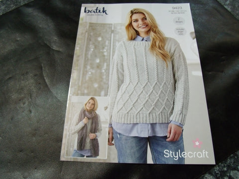 Stylecraft Batik Double Knitting Pattern 9423 (Two Designs)