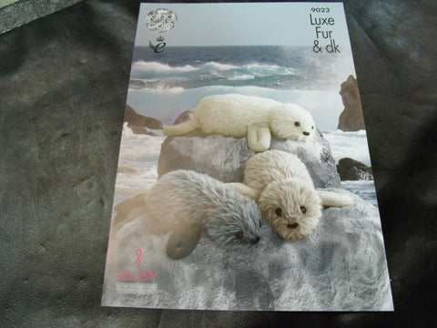 King Cole Luxe Fur Seal Knitting Pattern 9023