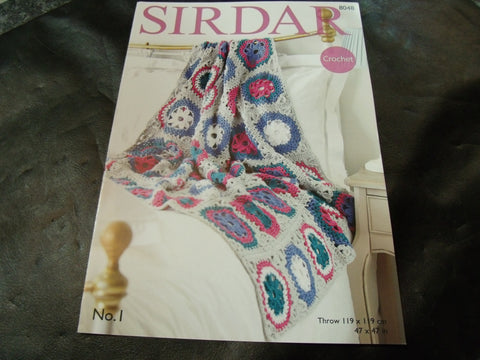 Sirdar Double Knitting Crochet Pattern 8048