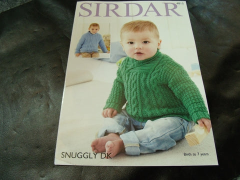 Sirdar Snuggly Double Knitting Pattern 4815