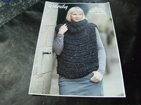 Wendy Super Chunky Knitting Pattern 6073