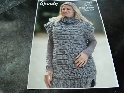 Wendy Super Chunky Knitting Pattern 6079