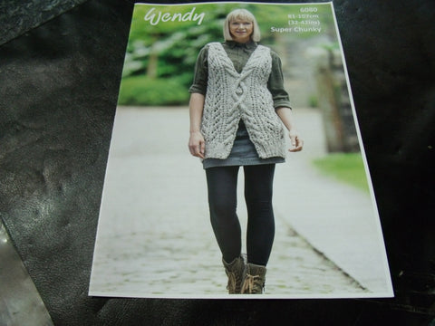 Wendy Super Chunky Knitting Pattern 6080