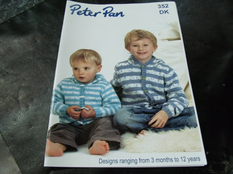 Peter Pan Double Knitting Design Book 352 3 Months to 12 Years