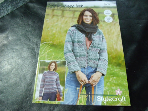 Stylecraft Life Vintage Look Double Knitting Pattern 9459