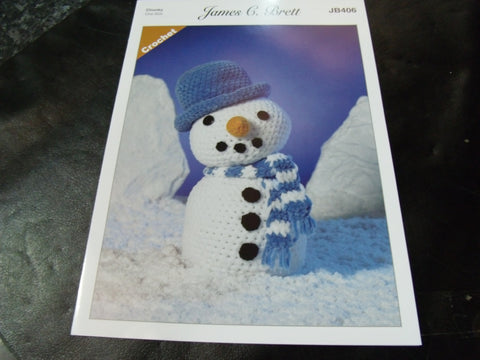 James C Brett Chunky Crochet Pattern JB406 Frosty The Snowman