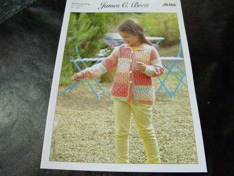 James C Brett Cardigan Knitting Pattern in Double Knitting JB466