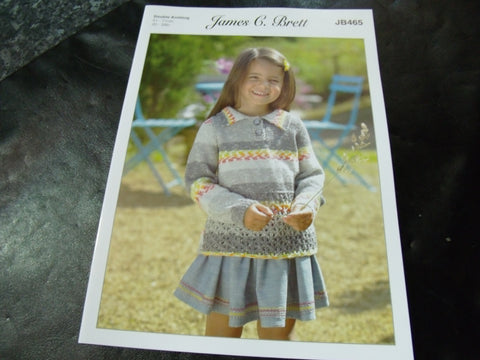 James C Brett Double Knitting Sweater Pattern JB465