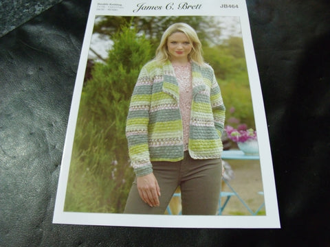 James C Brett Double Knitting Cardigan Pattern JB464