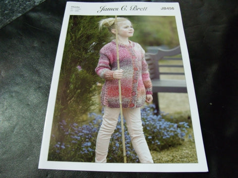 James C Brett Chunky Knitting Pattern JB456