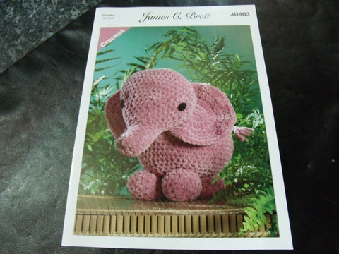 James C Brett Chunky Crochet Pattern JB403 Ellie The Elephant