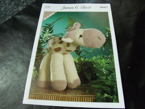James C Brett Chunky Crochet Pattern JB401 Sunshine The Giraffe