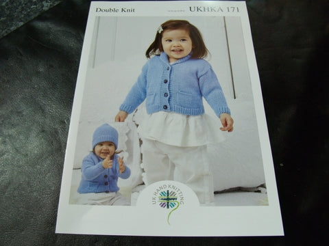 UKHKA Double Knitting Pattern 171 Jacket, Blanket and Hat