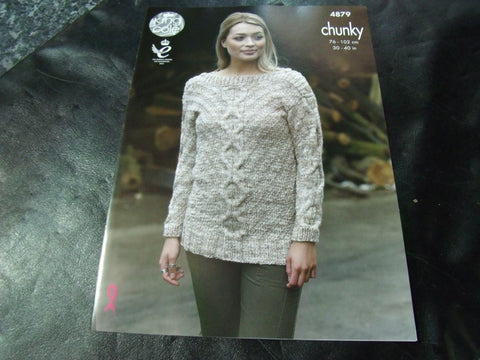 King Cole Chunky Pattern 4879 Sweater and Top