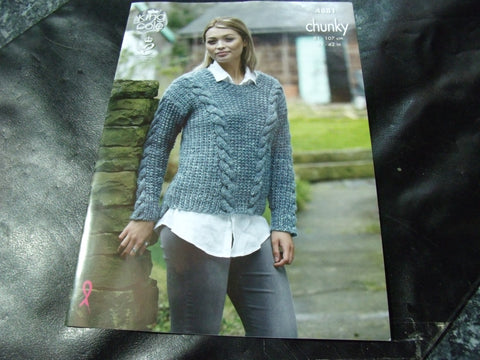 King Cole Chunky Pattern 4881 Sweaters