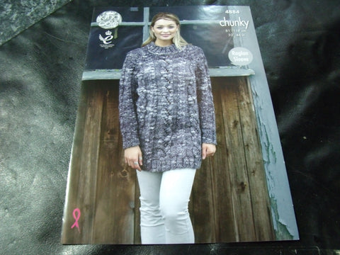 King Cole Chunky Pattern 4884 Sweater Dress and Sweater