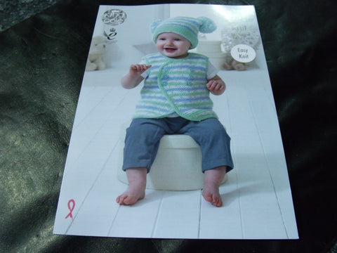 King Cole Double Knit Pattern 4898 Easy Knit Baby Set