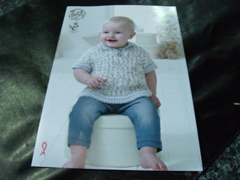 King Cole Double Knit Pattern 4899 Baby Set