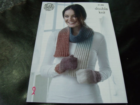 King Cole Double Knitting Accessories Pattern 5148