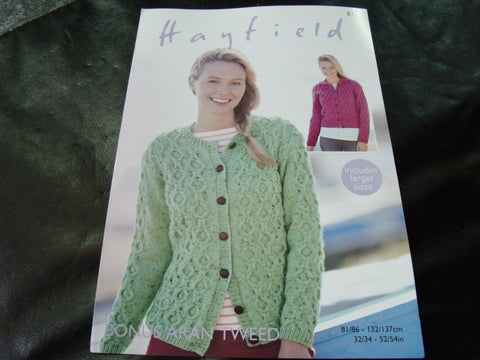 Hayfield Bonus Aran Knitting Pattern 8102