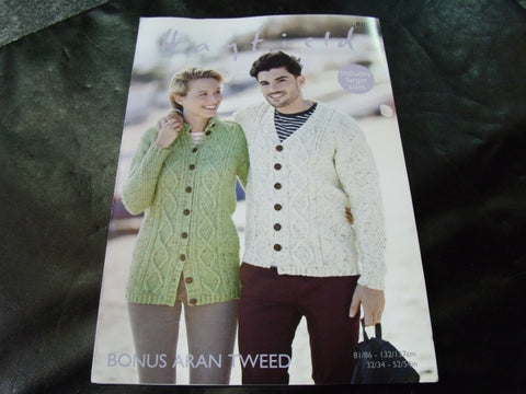 Hayfield Bonus Aran Knitting Pattern 8101