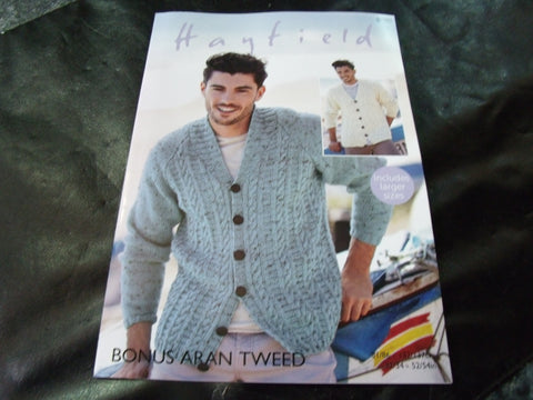 Hayfield Bonus Aran Knitting Pattern 8100