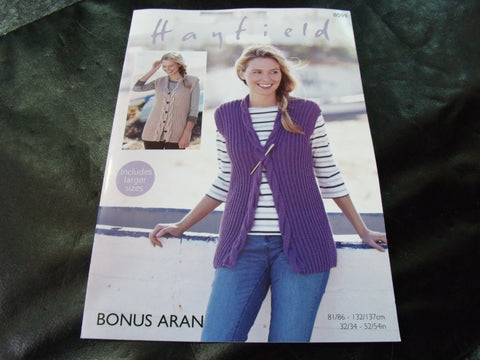 Hayfield Bonus Aran Knitting Pattern 8099