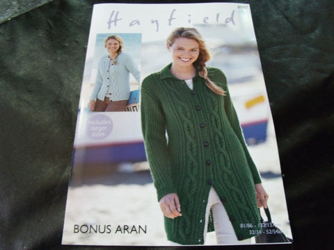 Hayfield Bonus Aran Knitting Pattern 8097