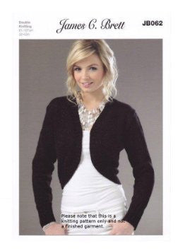 Knitting Pattern Bolero in Double Knitting JB062