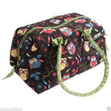 Knitting Bag -Craft Carryall Rustic Ranch Beige Owl Multi