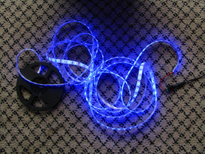 5 metres Blue LED strip (5630, 12V input, 60 LEDs/m, waterproof)