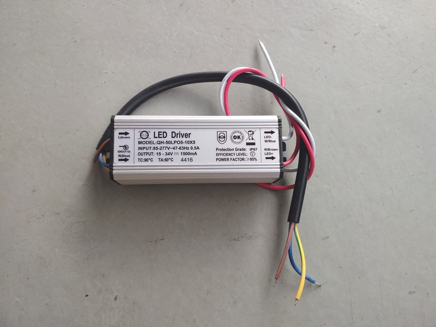 QH-50 34V 1.5A driver for 50W Chinese COBS